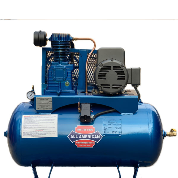 AAA 3HP 1PH K28 60 Gallon Horizontal