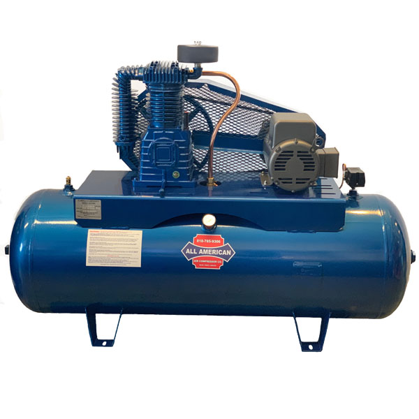 AAA 5HP 1PH K30 60 Gallon Horizontal