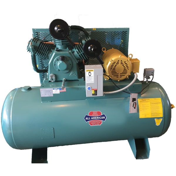 Curtis 10HP 120 Gallon CA E71 3Phase Horizontal 208-460V