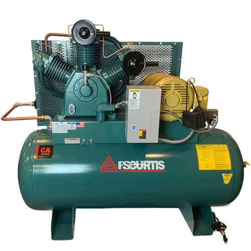 Curtis 10HP 120 Gallon | 34.2 CFM at 175 PSI | CA E71 3Phase Horizontal UltraPack 208-460V