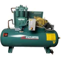 Curtis 5HP 80 Gallon | 18.5 CFM at 175 PSI | CA E57 3Phase Horizontal UltraPack 208-460V