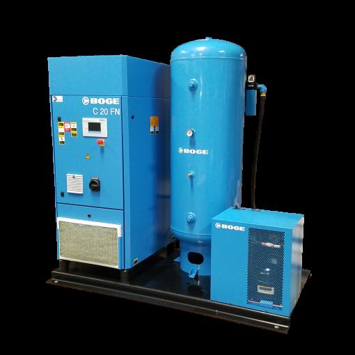 Boge 25 HP Skid 120 Gallon | Dryer | 3-Phase 208-575V | 125-150 PSI | MPCB-F | C25DRN