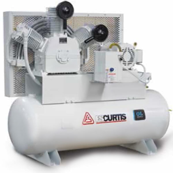 Curtis 7.5HP 120 Gallon Oil-less TW75 Vertical 208-460V