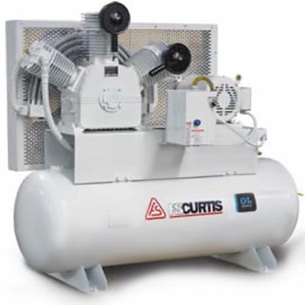 Curtis 10HP 120 Gallon Oil-less TW100 Vertical 208-460V