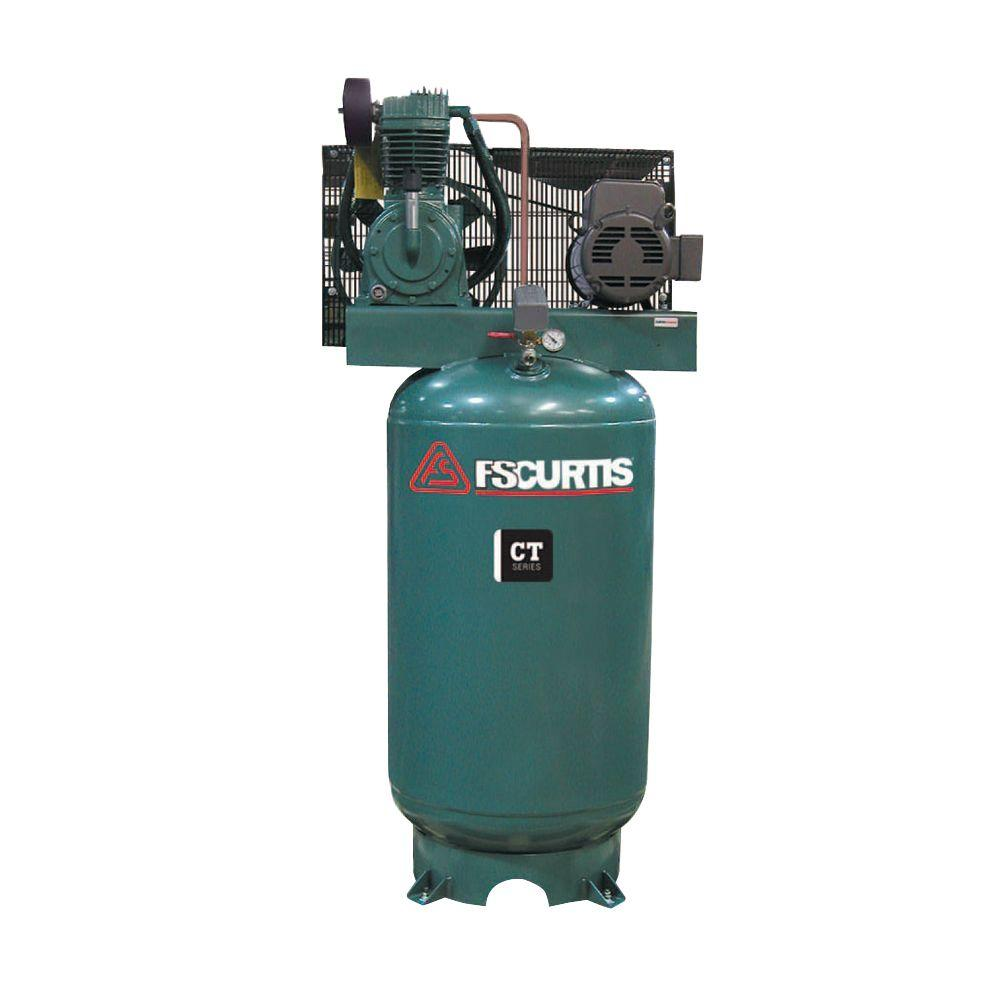 Curtis 7.5HP 80 Gallon CT 75 3Phase Vertical 230-460V