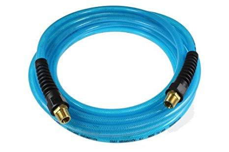 """Flexeel Straight Hose Blue 1/4"""" 25-100 Feet (1/4"""" NPT)"""