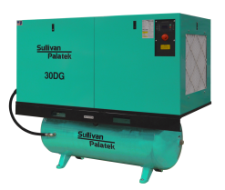 Palatek 40 HP | 200 Gallon | 3-Phase 200-575V | 125-150 PSI | Open-Encl | TEFC | Wye | DG40