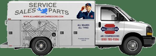 Air Compressor Service Truck